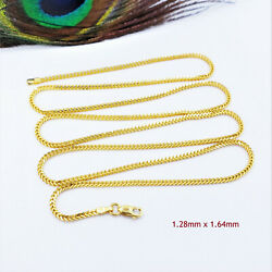 Genuine 22k Solid Gold Chain Necklace Franco 24 Lobster Claw Clasp Hallmark 916