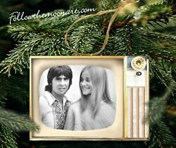 Brady Bunch And Davy Jones Tv And Other Shows Television Vintage Look Wood Ornament