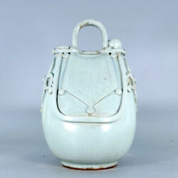 12.4 Chinese Fine Old Rare Antique Porcelain Song Ru Kiln Handcarved Teapots