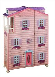 New New York Mansion 3 Story 47 H Pink Doll House And Dollhouse Furniture