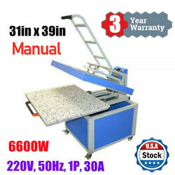 Us Stock 31x39in Large Format Manual Clamshell Heat Press Transfer Machine 220v
