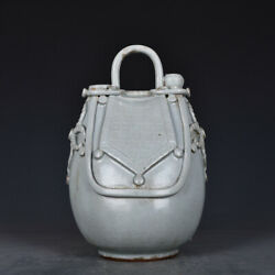 12.2 Fine Old Chinese Antique Porcelain Song Ru Kiln Handmade Pattern Teapots