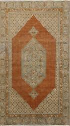 Antique Pre-1900 Geometric Tebriz Vegetable Dye Area Rug Hand-knotted Wool 4x6