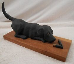 William Henry Turner Black Lab Puppy Figurine Crafted For Ducks Unlimited