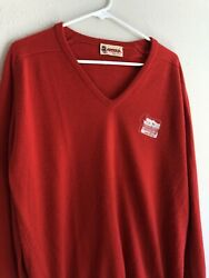 Vintage 80s 90s Harveys Lake Tahoe Golf Sweater Antigua Made In Usa Red Large