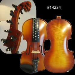 Hand Made Flames 410 Strings Carving Scroll Violin 4/4 Rich Sweet Sound 14234