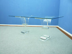 Plexiglass And Glass Dining Table By Charles Hollis Jones 1970s