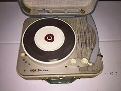 Vintage Rca Victor Portable Record Player 4 Speed Phonograph