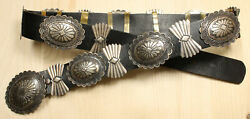 William Vandever Navajo Sterling Silver Concho Belt Dgdd X692a