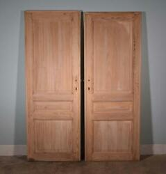 Two 88 X 33 French/belgian Antique 3 Panel Stripped Sanded Wood Doors