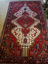 Antique Oriental Middle Eastern Baktian Rug - Multi-colored