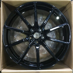 4-new 19 Rep Gt350 Style Fit Mustang Wheel 19x10 5x114.3 40 Black Rims