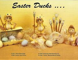 Ceramic Bisque Hand-painted Sweet Tot Easter Duck With Accessories