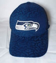 Seattle Seahawks Girl's Youth New Era 9forty Spot Sparkle Cap Hat