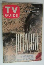 Tv Guide Sept 1958 Fall Preview Classic Dead Of Alive Steve Mcqueen Donna Reed