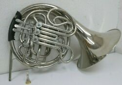 Schiller American Heritage Nickel Plated French Horn Made In Germany.