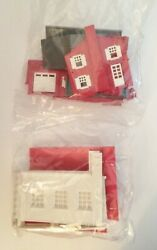Plasticville Fire Dept And Plasticville Colonial House- For A Train Layout O Gauge