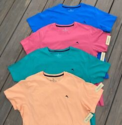 Tommy Bahama Menand039s Lightweight Crew Neck T Shirt S - Xl Blue Green Red Grey