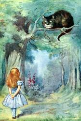 ALICE AND THE CHESHIRE CAT FROM ALICE IN WONDERLAND FRIDGE MAGNET