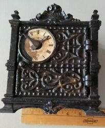 Antique Cast Iron Fidelity Trust Vault/counting House Bank By Barton Smith Co.