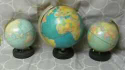 Vintage 3 Rubber Tire Ashtray Globes With Goodyear Tires 2-12and039and039 And 1-16and039and039