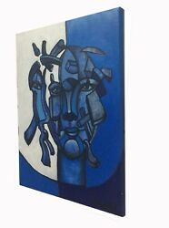 Lost Of Reasonblue Original Painting 20andrdquo X 16andrdquo By Ro West.w/coa