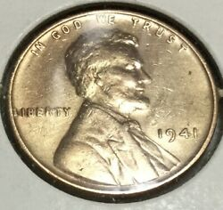 1941 Lincoln Wheat Penny No Mint Mark, Ddo And Die Chip On Reverse Error/ Rare
