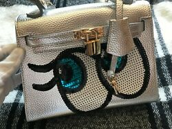 Authentic Playnomore SHYGIRL silver bag handbag Korean $257.00
