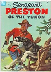 Sergeant Preston Of The Yukon 10 Dell 1954 Painted Cover