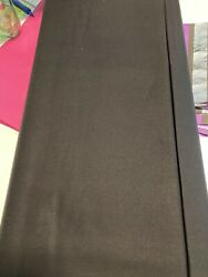 Solid Black Fabric By the Half Yard 100% Cotton