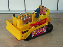 Vintage Rare Chinese Toy 70s Battery Operated Bulldozer Pe021 Tested See Video