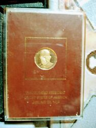 Dwight D Eisenhower By Gilroy Roberts .500 Fine Gold Proof Medal Franklin Mint