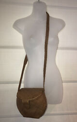 VTG C E M Woven Leather Braided Shoulder Strap Bucket Handbag Crossbody EUC $39.97