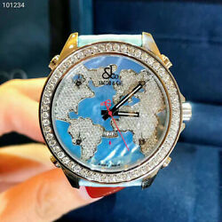 New Jacob&Co. JCM-47WM 43mm Stainless Steel With Diamonds Light-blue Date Watch