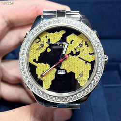 New Jacob&Co. Five Time Zones JC47SBY Steel With Yellow Diamonds 47mm Watch