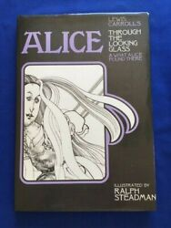 Lewis Carrolland039s Alice Through The Looking Glass- 1st Inscribed By Ralph Steadman