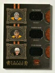 2010-11 Crown Royale Royal Lineage Materials Thomas / Rask / Tyler Seguin /100