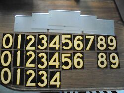Vintage House Numbers Never Used 24 Total Numbers With 5 Trays-all Metal And Ref
