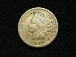 Summer Sale 1887 Indian Head Cent Penny U.s. Collectible Coin 36x