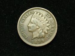 Summer Sale Xf 1899 Indian Head Cent Penny W/ Diamonds And Full Liberty 182s