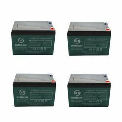 Pack Of 4pcs Motorcycle 12v 14ah Agm Battery Sealed 6-dzm-12 For Gokart Scooter