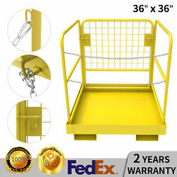 36''x36'' Forklift Work Platform Safety Cage Basket Heavy Duty 1100lbs Capacity