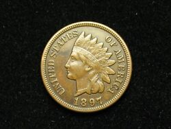 Summer Sale Xf 1897 Indian Head Cent Penny W/ Diamonds And Full Liberty 196s