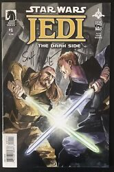 Star Wars Jedi Dark Side 1 2011 Signed May The Force Be With You Comic Book