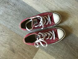 🔥 Converse Chuck Taylor All Star  Kids Size Youth 2 Maroon Red Boy Girl $17.00