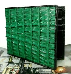 Genuine Crocodile Leather Mens Bifold Alligator Real ID Cards Bags Wallet Purse