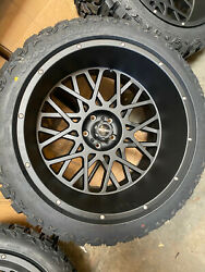 22x12 Vision Rocker 33 Mt Wheels Rims Tires Package Or Jeep 5x 127
