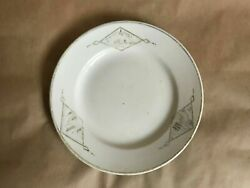 Soviet Propaganda Porcelain Plate Five-year Plan For 4 Years. 1920-1930s