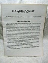 Vintage Collectible Roseville Pottery Price Guide No. 4-983 Sharon And Bob Huxford
