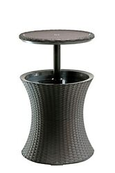 Rattan Cool Bar Table Patio Set Outdoor Furniture Bistro Piece Dining Pool Bbq